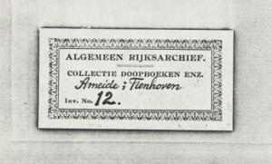 Ameide DTB 12 Register van overledenen ten behoeve van impost op successierechten. 1806-1811-2 a