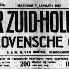 Schoonhovensche Courant 07753 1937-01-04 voorkant