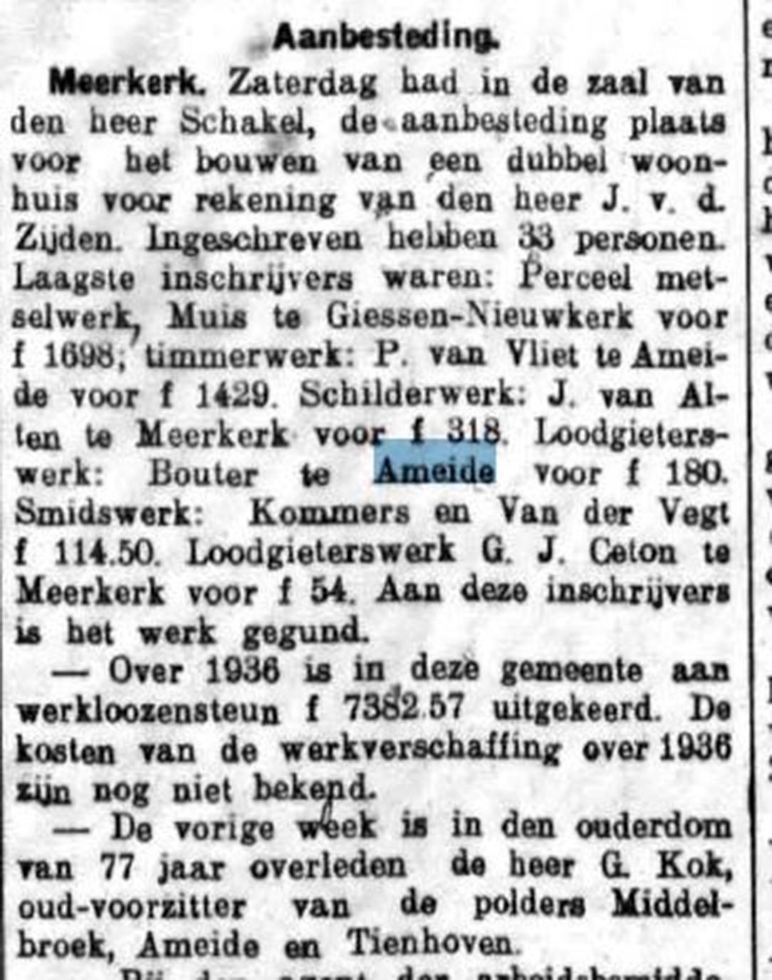Schoonhovensche Courant 07758 1937-01-13 artikel 01
